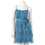 LC Lauren Conrad Floral Chiffon Dress