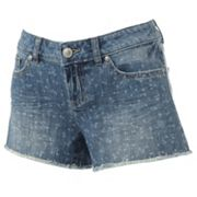 LC Lauren Conrad Floral Distressed Denim Shorts