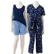 Croft and Barrow 4-pc. Knit Pajama Set