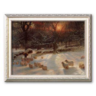 Art.com The Shortening Winter's Day Framed Art Print by Joseph Farquharson