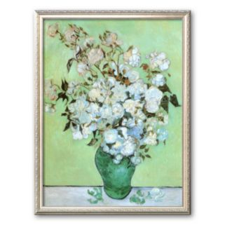 Art.com A Vase of Roses, c. 1890 Framed Art Print by Vincent van Gogh