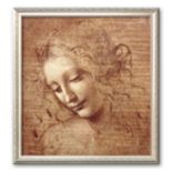 "Art.com ""Female Head (La Scapigliata), c.1508"" Medium Framed Art Print by Leonardo da Vinci"