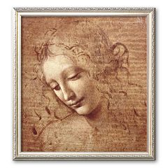 Art.com 'Female Head (La Scapigliata), c.1508' Medium Framed Art Print by Leonardo da Vinci