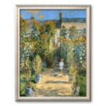 "Art.com ""The Artist's Garden at Vetheuil, 1880"" Framed Art Print by Claude Monet"