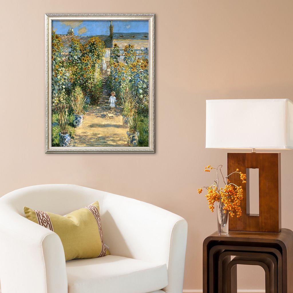 Art.com The Artist's Garden at Vetheuil, 1880 Framed Art Print by Claude Monet