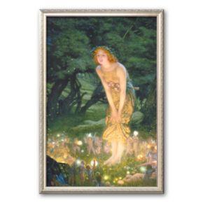 Art.com Midsummer Eve, c.1908 Framed Art Print by Edward Robert Hughes