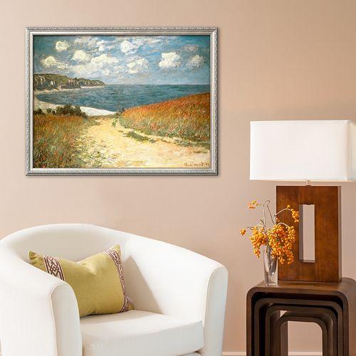"Art.com ""Path Through the Corn at Pourville, c.1882"" Framed Art Print by Claude Monet"