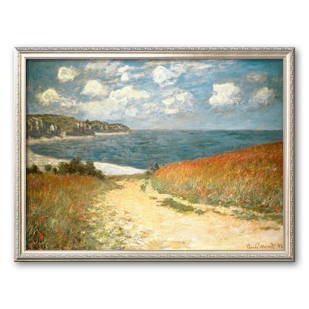 Art.com Path Through the Corn at Pourville, c.1882 Framed Art Print by Claude Monet