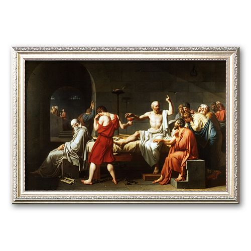 "Art.com ""The Death of Socrates, c.1787"" Framed Art Print by Jacques-Louis David"