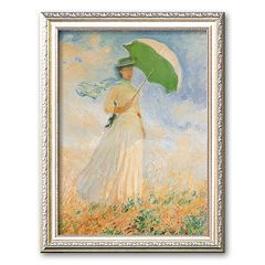 Art.com 'Woman with Parasol' Framed Art Print by Claude Monet