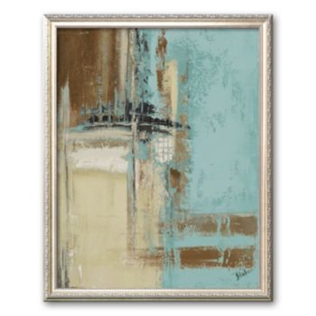 Art.com Oxido on Teal II Framed Art Print by Patricia Quintero-Pinto