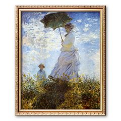 Art.com 'Madame Monet and Her Son' Framed Art Print by Claude Monet