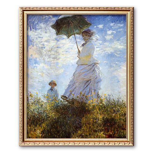 "Art.com ""Madame Monet and Her Son"" Framed Art Print by Claude Monet"