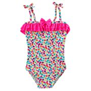 St. Tropez Swimwear Heart One-Piece Swimsuit - Girls 4-6x