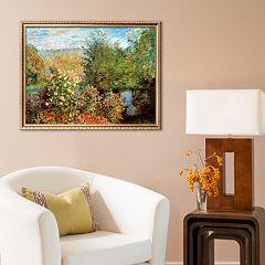 Art.com 'Stiller Winkel im Garten von Montgeron' Framed Art Print by Claude Monet