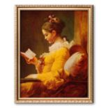 "Art.com ""Young Girl Reading"" Framed Art Print by Jean-Honore Fragonard"