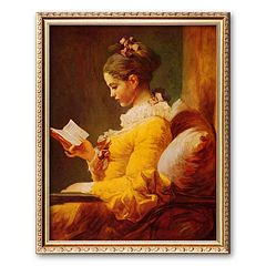 Art.com 'Young Girl Reading' Framed Art Print by Jean-Honore Fragonard