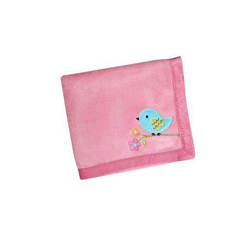 NoJo Love Birds Velboa Fleece Blanket
