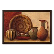 Art.com Basket and Vessels Framed Art Print by Kristy Goggio