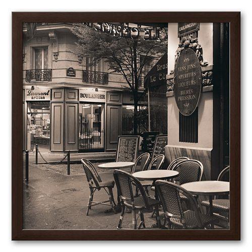 Art.com Cafe, Montmartre Framed Art Print by Alan Blaustein