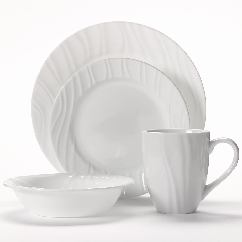 sc 1 st  Kohl\u0027s & Corelle Swept 16-pc. Dinnerware Set