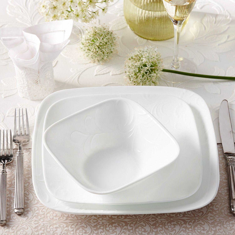 Dinnerware Set; Corelle Cherish 16-pc. & Corelle Cherish 16-pc. Dinnerware Set | Kohls