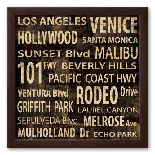 Art.com Los Angeles Framed Art Print by Luke Wilson