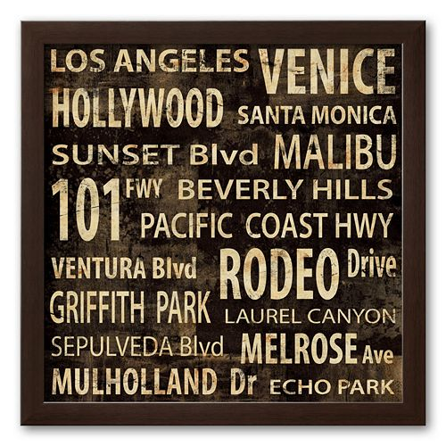 Art.com Los Angeles Framed Art Print by Luke Wilson