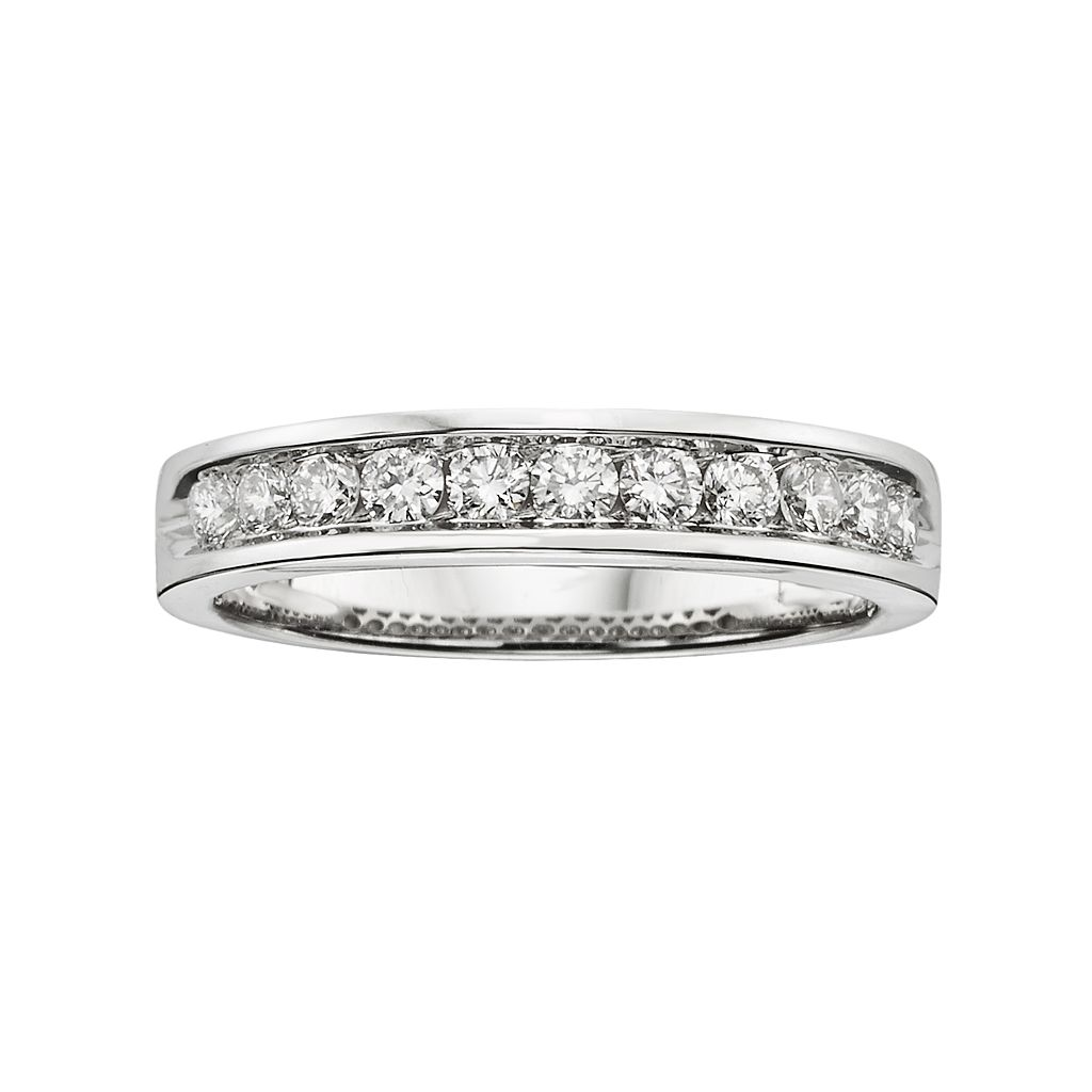 18k White Gold 1/2-ct. T.W. IGL Certified Colorless Diamond Wedding Ring