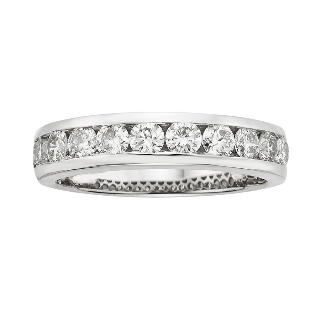 18k White Gold 1-ct. T.W. IGL Certified Colorless Diamond Wedding Ring