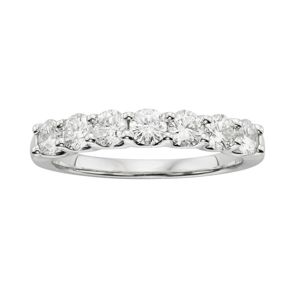 18k White Gold 1-ct. T.W. IGL Certified Colorless Diamond Wedding Ring
