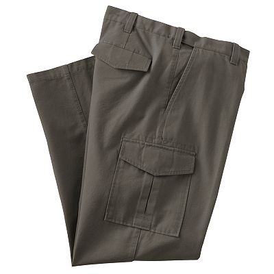 Croft and Barrow Canvas Flat-Front Cargo Pant