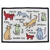 Park B. Smith Cat Phrases Indoor Outdoor Rug
