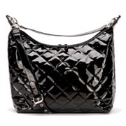 JP Lizzy Faux-Patent Hobo Diaper Bag