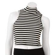 About A Girl Mockneck Crop Tank Top - Juniors