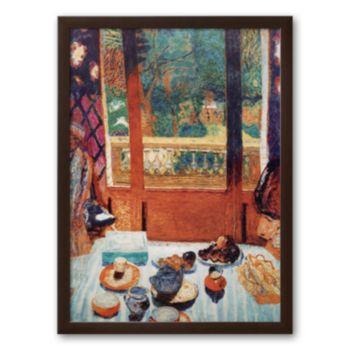 Art.com The Breakfast Room Framed Art Print by Pierre Bonnard