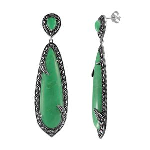 97a35bc27 Sale. $110.00. Regular. $275.00. Lavish by TJM Sterling Silver Chrysoprase Drop  Earrings - Made with Swarovski Marcasite