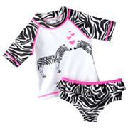 Carter's Zebra 2-pc. Rash Guard Set - Toddler