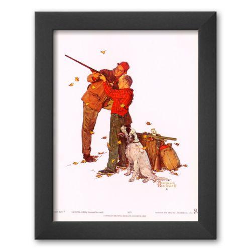 Art.com Careful Aim Framed Art Print by Norman Rockwell