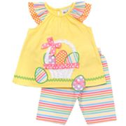 Rare Editions Easter Egg Top and Leggings Set - Baby