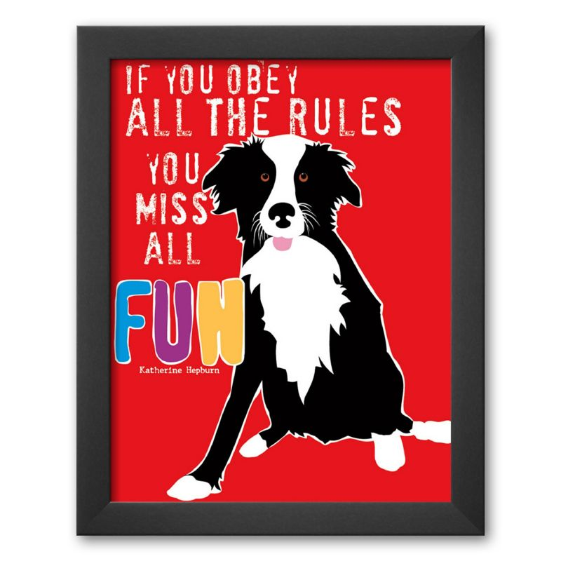 "Art.com ""Fun"" Framed Art Print by Ginger Oliphant"