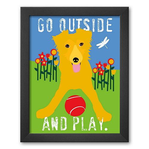Art.com Go Outside and Play Framed Art Print by Ginger Oliphant