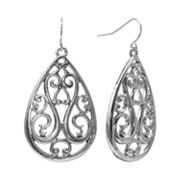 SONOMA life + style Filigree Teardrop Earrings