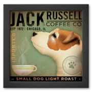 Art.com Jack Russel Coffee Co. Framed Art Print by Stephen Fowler