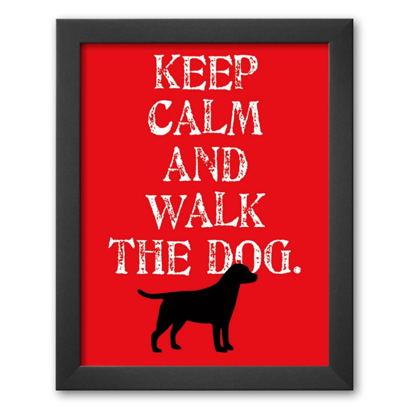 "Art.com ""Keep Calm (Labrador)"" Framed Art Print by Ginger Oliphant"