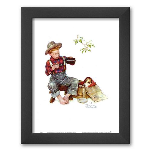 Art.com Mysterious Malady Framed Art Print by Norman Rockwell