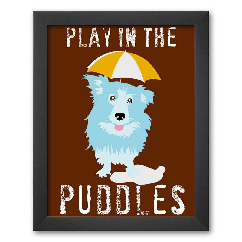 "Art.com ""Play in the Puddles"" Framed Art Print by Ginger Oliphant"