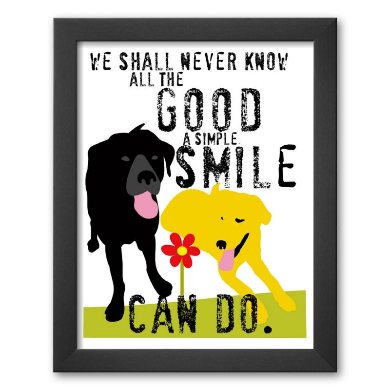 "Art.com ""The Good a Simple Smile Can Do"" Framed Art Print by Ginger Oliphant"