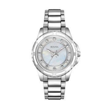 Bulova Women's Diamond Stainless Steel Watch - 96P144