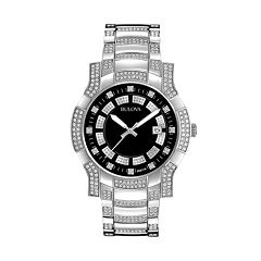 Bulova Men's Crystal Stainless Steel Watch - 96B176